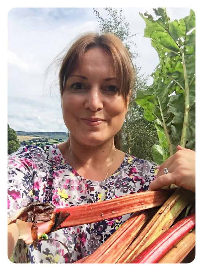 Rhubarb picking